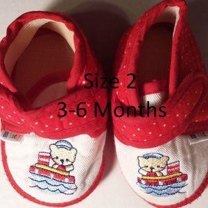 Other - Boy's Size 2 3-6 M Months Sailor Bear Shoes